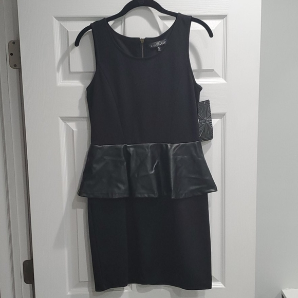 "Dresses & Skirts - NWT ""Almost Famous"" Black Peplum Dress"